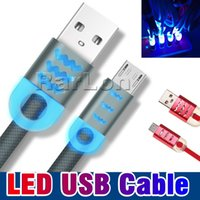 1M 3FT Micro USB V8 Cable Led Luminou Alloy Micro 2. 0 USB Da...