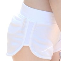 Blanc Sexy Yoga Shorts Taille élastique Gym Workout pour femme sportwear Legging respirant Compression Shorts