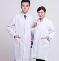 여성 남성 긴 소매 화이트 유니폼 간호사 의사 과학자 실험실 학교 실험실 코트 작업복 의류