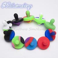 Tappo di carboidrati in silicone Dia 25mm per 21,5 mm Banger Nails colori misti di colore alimentare silicio libero DHL 521