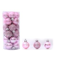 Cute Christmas Tree Hanging Ball Bauble Glitter Christmas Ba...