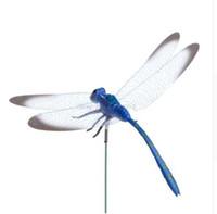 Bunte Fairy Dragonfly auf Stick Ornament Hausgarten Vase Rasen Kunst Handwerk Dekor
