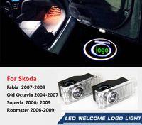 SKODA Süper Oktavia Fabia 09 Octavia 04-07 Roomster 2006-2009 Hayır Sondaj LED Hayalet Gölge Projektör Lazer Nezaket Logo Işık İçin