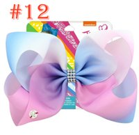 JoJo Cardboard Kids Bows 8 Inch 12 Color Rainbow Gradient Un...