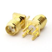 100 STÜCKE RF Sma buchse löt PCB clip kantenmontage Teilfuß stecker