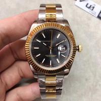 أعلى بيع 41MM Datejust الساعات الرجال الميكانيكية التلقائية ووتش Reloj الأعمال الأزياء الصلب المشبك الفولاذ المقاوم للصدأ الرجل ووتش