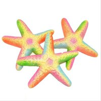 Красочный 2018 Starfish Rare Jumbo kawaii Cute Squishy Slow Rising Pendant Phone Straps Charms Queeze Kid Toys squishies Queeze Gift