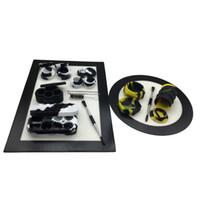 Silikon-Tupfer-Werkzeugset mit Rund- und Rechteckmatten 25ml / 7ml / 5 / 26ml Behälter Gläser Titan-Tupfer-Werkzeuge für Wachs