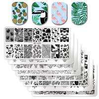 1 Stücke Rechteck Nagel Stamping Platte Nail art Stamping Platte DIY Stempel Stempel Vorlage Nagel Schablone Tool Kits