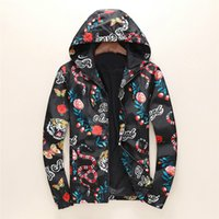 2018 Fashion Designer Jacket Animal Letter Pattern Windbreak...