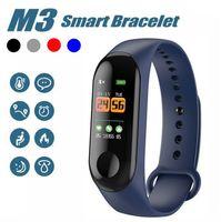 """Nouveau M3 Smart Bracelet Fitness Tracker HD 0.96 """"écran LED avec moniteur de fréquence cardiaque Bracelet étanche Bracelet pour IOS et Android Phone"""