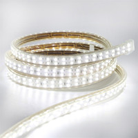 Edison2011 High bright SMD 2835 180 Led / m Led Strips IP67 Waterproof warm white / White Double Row 220V Led flexible