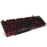 Optische Gaming-Tastaturen USB-Kabel-Hintergrundbeleuchtung Gamer für Desktop-Laptop Supension und Illuminating Keys USB-Kabel-Atemlichter Tastatur