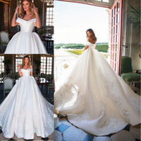 2018 Gougeous Milla Nova Wedding Dresses Off the Shoulder La...