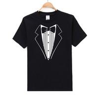 US Größe Sommer Herren T Shirts 3D Lustige Krawatte Gedruckt Baumwolle Männer Kurzarm Crew Neck Streetwear Kleidung