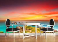 Moda moderna Fondos de pantalla 3D para la pared Paisaje del océano Wallpaper Mural Bosque de las maravillas Fondo de pantalla TV Telón de fondo Pintura de pared
