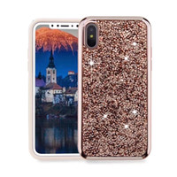 Diamond Glitter Case für iPhone Xs Xs XR 8 Plus 7 6 6S 5 5S SE Samsung Galaxy S10 S10e S10 + S9 Plus S8 Plus Note 8 9 Rückseite