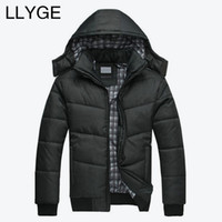 LLYGE 2018 Mens Cotton- Padded Jacket Coat Thick Warm Hooded ...