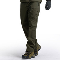 Winter Cargo Warm Pants Mens Tactical Fleece Soft Shell Mili...