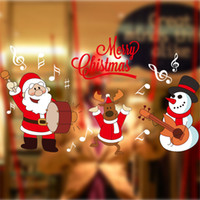 Merry Christmas Wall Sticker New Year Merry Christmas Decora...