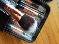 12pcs / set makeup pincel kit delicado caja de hierro cepillo cajas trajes de cepillo de maquillaje inferior pulverizado