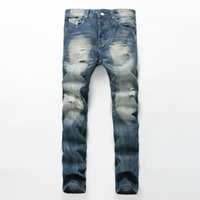 Men' s Straight Slim Casual Pants Jeans Denim JEAN Pants...