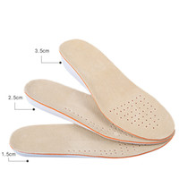 Soletta per aumentare l'altezza delle donne e dell'uomo Soletta in pelle di alta qualità EVA Solette antiscivolo per scarpe Imbottitura per scarpe traspirante
