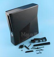 XBOX360 Slim konsol sistemi için tam koruyucu Konut Shell Kılıf Siyah