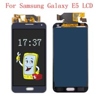 """100% probado Pantalla LCD táctil de alta calidad de 5.0 """"para Samsung galaxy E5 E500 E500F E500H E500M Asamblea de digitalizador LCD + DHL gratis"""
