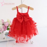 Baby Floral Big Bowknot Sleeveless Strap Girl Party Tulles D...