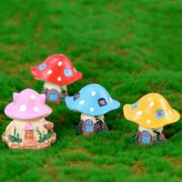 Cartoon Mushroom Castle Shroom Villa Casa Moss terrario ornamenti Micro Accessori Paesaggio Fairy Garden tavolino della decorazione fai da te