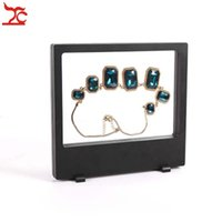 Au détail PET En Plastique Membrane Multifonctionnelle Bijoux Affichage Fenêtre Collier Charme Bracelet Montre Accessoires Boîte d'affichage 18 * 20 cm