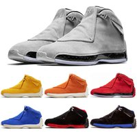 Cheap 18 XXXIII mens basketball shoes 18s Yellow orange sued...
