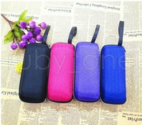 4 color Rectangle sunglasses case pressure- proof zipper crus...