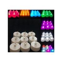 Pack de 24 luces de Navidad 3.8 * 4.2cm con pilas de la fiesta de cumpleaños del parpadeo del LED sin llama Tealight velas de la boda Luz Decoración de Navidad