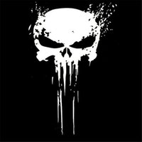 10CMX15CM PUNISHER Skull BLOOD Vinyl Car Decals Stickers Mot...