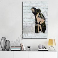 Banksy Mona Lisa Showing Her Backside Posters HD Canvas Pain...