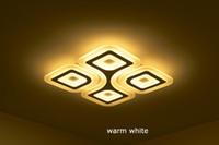 Çağdaş Modern Avize Işıkları LED Süper-İnce Tavan Lambaları 4/6 Doklar Modern Oturma Odası Tavan Işık Dikdörtgen Yatak Odası Armatür Restoran Aydınlatma