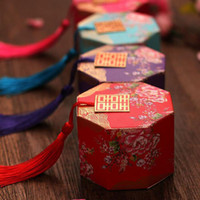 Double Happiness Vintage Chinese Style Paper Unico Sweetbox Bomboniere Bomboniere Porta caramelle