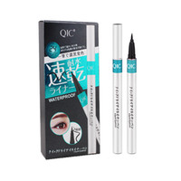 Dropshipping QIC Marke Silber Rohr Extreme Liquid Black Eyeliner Wasserdichte Make-Up Schönheit Eye Liner Bleistift Stift Makeup Tools