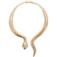 Chic Gold Silber Schlange Drehmomente für Frauen Mode Schlange Halskette Jubiläumsgeschenk Kurve Einstellbare Halsband Halskette Party Schmuck
