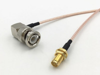 90 degrés à angle droit BNC mâle Jack à RP SMA femelle Fiche BNC / SMA RG316 câble coaxial RF Connecteur