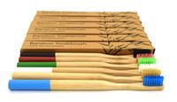 Setola a carbone di bambù Setola a corona per legno Spazzolino di bambù con manico rotondo Spazzolino a setole morbide Capitellum Bamboo Tooth Fashion