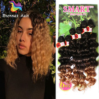 6pcs lot synthetic hair weft body deep wave braids Jerry cur...