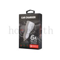 QC 3.0 Fast Short 3.1a شحن سريع شاحن سيارة شاحن الهاتف المزدوج USB مع الحزمة