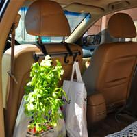 سبائك الألومنيوم سيارة المقعد الخلفي مسند شماعات السنانير القابلة للإزالة هوك السيارات المنظم حامل للحقائب التسوق