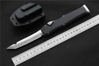 """Wysokiej jakości Nóż Nóż CNC Vespa (4,5 """"Satyna) Single D2 Ostrze Stopu Aluminium Uchwyt Taktyczny Nóż Survival Noże EDC Narzędzia"""
