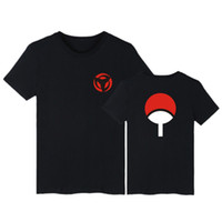 Hot Fashion Neueste Anime T-shirt Naruto Kurzarm T-Shirt Für Männer Frauen Unisex Oansatz Shirts Uchiha Familie Marke Kleidung