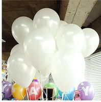 بالونات بيضاء 10 قطعة / الوحدة 1.5 جرام لؤلؤة اللاتكس بالون زينة الزفاف نفخ الهواء الكرة الأطفال عيد إمدادات حزب كرات