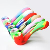 High Quality Mini Colored Silicone Hand Pipe Smoking Pipe wi...